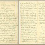 Une des nombreuses lettres du soldat, conservées par la famille.