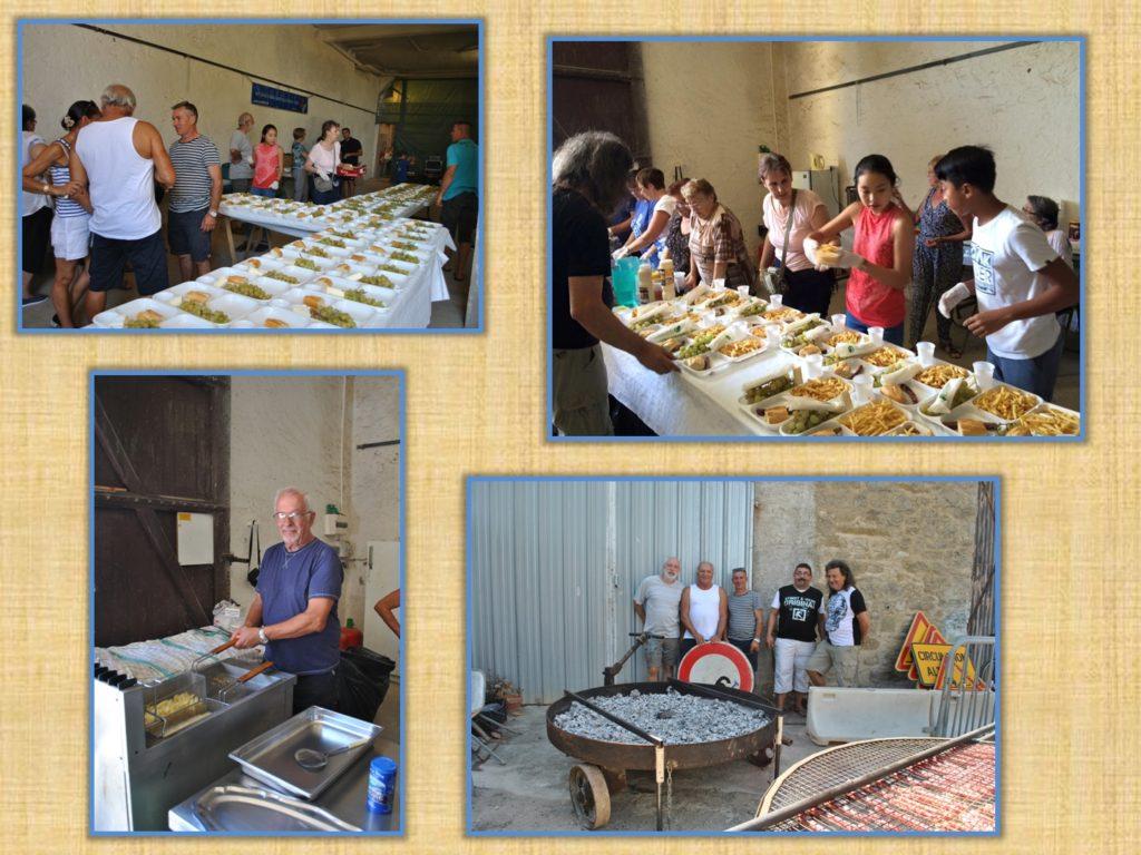 Plateaux repas préparés par les bénévoles.