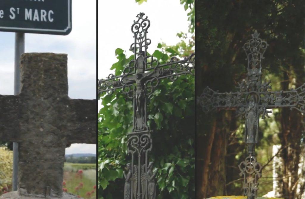 Les 3 croix des rogations encore présentes sur notre commune.