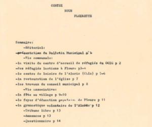 """1981 : """"Contez-nous flourette"""" le premier bulletin municipal."""